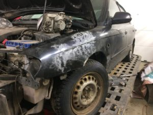 лесколовский автосервис. Фото до ремонта
